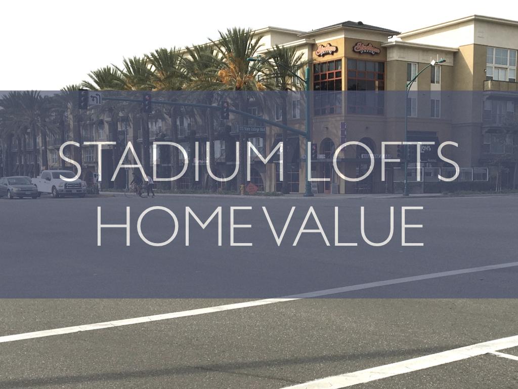 Stadium Lofts values for studio, 1 bed, and 2 bath condos